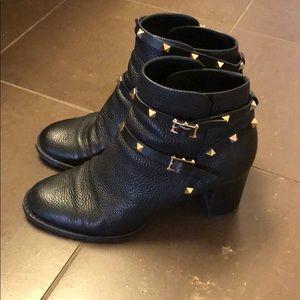 a5f7c9de63e7b Valentino Shoes   Black Leather Rockstud Bootie 70mm   Poshmark